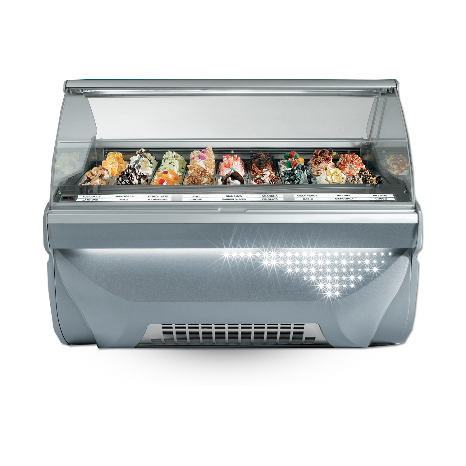 Forced Air Scooping Display Cabinet AMICA 24 | Alfa Frigor